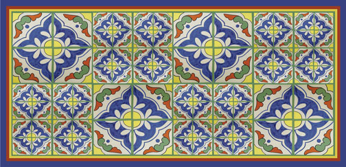 spanish tile runner
