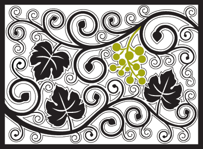 curly vine wine country mat
